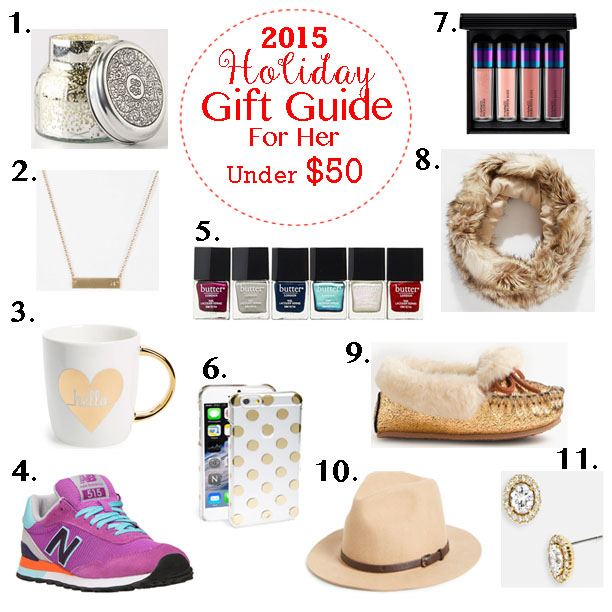 Holiday Gift Guide FOR HER- All items under $50